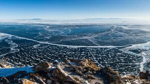 Landscape Lake Ice Russia 15145x6445 Wallpaper