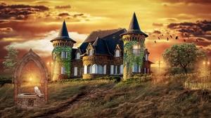 Fantasy Castle 3840x2160 Wallpaper