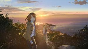 Girl Boy Sunlight Ocean 2111x1080 Wallpaper