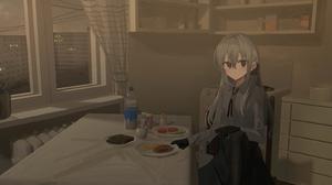 Anime Anime Girls Chihuri 45 Artwork Window Kitchen Food 3500x1750 wallpaper
