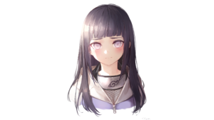 Naruto Anime Hyuuga Hinata Anime Anime Girls White Background Simple Background Portrait Face 2133x1200 Wallpaper