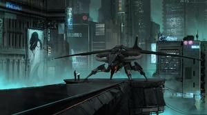 Aircraft City Futuristic Skyscraper Vehicle 1920x1099 Wallpaper