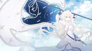 Armor Blonde Blue Eyes Fate Grand Order Flag Girl Jeanne D 039 Arc Fate Series Long Hair Ruler Fate  2964x1560 Wallpaper