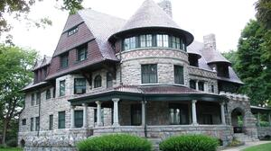 Gray House Man Made Mansion Stone Victorian 3072x2304 Wallpaper