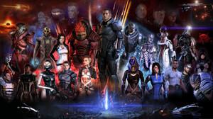 Ashley Williams Commander Shepard Edi Mass Effect Garrus Vakarian Grunt Mass Effect Jack Mass Effect 2560x1440 Wallpaper