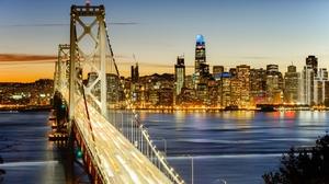 Bay Bridge Bridge Light San Francisco 1920x1080 wallpaper