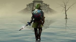Link Shield Sword The Legend Of Zelda Ocarina Of Time The Legend Of Zelda Warrior 2550x1435 wallpaper