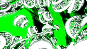 3d Abstract Artistic Ball Blender 3d Cgi Digital Art Green Sphere 1920x1080 Wallpaper