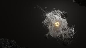 Blender Digital Digital Art Sun Planet Abstract 3840x2160 Wallpaper