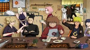 Naruto Shippuuden Manga Anime Rock Lee Tenten Temari Nara Shikamaru Haruno Sakura Yamanaka Ino Hyuug 3840x1200 Wallpaper