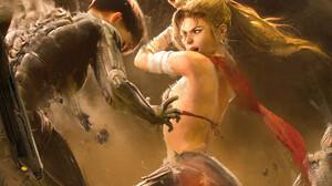 Battle Artwork ArtStation Women Cyberpunk Sword Girls With Swords Science Fiction Women Science Fict 1800x1799 Wallpaper