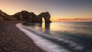 Arch Beach Durdle Door Horizon Ocean Rock 2048x1382 wallpaper