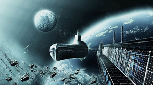 Planet Space Spaceship 1920x1080 Wallpaper