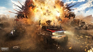Car Crossout Video Game Explosion 1920x1080 Wallpaper