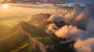 Daniel Kordan Landscape Clouds Mountains Sunlight Nature Sky 1800x1440 Wallpaper