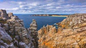 Hill Sea Cliff Nature Landscape 1920x1080 Wallpaper