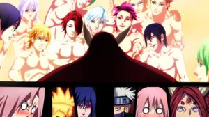 Kaguya Tsutsuki Kakashi Hatake Naruto Uzumaki Sakura Haruno Sasuke Uchiha 2200x1602 Wallpaper