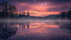 Lake Nature Sunset 2048x1365 Wallpaper