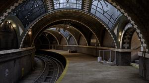 Architecture Arch Subway Railway New York City Bricks 1600x900 Wallpaper