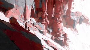 Artwork Digital Art Nature Mountains 1920x848 wallpaper