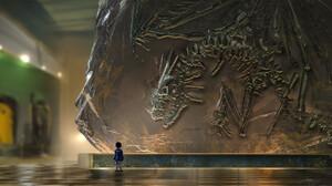 Artwork Dinosaurs Fossils Museum Dragon 1920x1122 Wallpaper