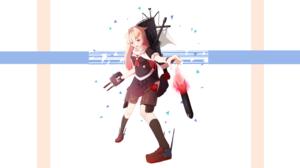 Girl Pink Hair Ship Yuudachi Kancolle Long Hair Skirt Smile Rocket 5120x2880 Wallpaper