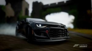 Forza Horizon 4 Depth Of Field Car Chevrolet Camaro Zl1 1le Black Cars Castle Tyre Smoke 1920x1080 Wallpaper