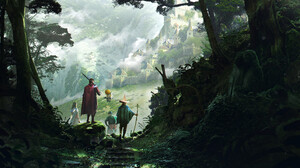 Artwork Digital Art Fantasy Art Castle Nature Trees 3840x1812 Wallpaper