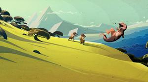 Steam Valve Dinosaurs 3440x1440 wallpaper