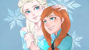 Anna Frozen Elsa Frozen Frozen Movie Snow 1666x1500 Wallpaper