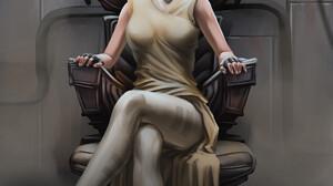 DumbOldSpider LLC Legs Legs Crossed White Dress Yellow Dress Comic Books Comic Art Video Game Art Wo 3508x4961 Wallpaper