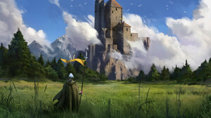 Artwork Digital Art Castle Nature 1920x1358 wallpaper