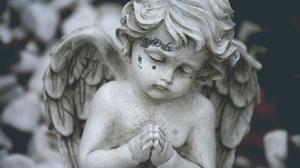 Lil Peep Music Angel Statue Photo Manipulation 1920x1080 Wallpaper