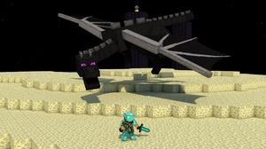Minecraft Dragon Ender Dragon Minecraft Mojang 1920x1080 Wallpaper