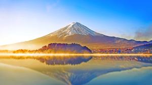 Mount Fuji Japan Mountain Scenic Sea Fog Nature Sunny Reflection Sky 5234x3272 Wallpaper