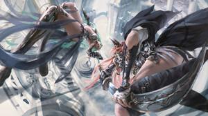 Digital Painting Battle Cyborg Assassins Fantasy Girl Risa Lin 1920x1135 wallpaper
