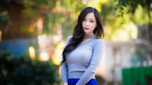 Asian Black Hair Depth Of Field Girl Model Woman 4500x3002 Wallpaper