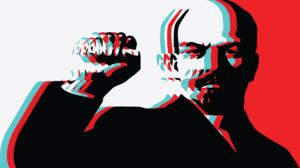 Vladimir Lenin Poster Illustration Digital Art Russian Bolsheviks Bald Head 6001x3441 Wallpaper