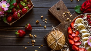 Food Fruit Berries Bananas Strawberries 2560x1710 Wallpaper