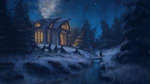 Winter Night 1920x1080 Wallpaper