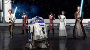 Luke Skywalker Obi Wan Kenobi Princess Leia R2 D2 1916x1078 Wallpaper