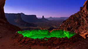 Canyon Desert Green Monument Valley Sky Twilight Utah 2248x1499 Wallpaper