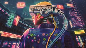 Futuristic Science Fiction Digital Art Concept Art Artwork Fantasy Art Fan Art 3D CGi Cyberpunk Cybe 3840x2160 Wallpaper