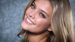 Blonde Danish Face Model Nina Agdal Smile 3000x2000 Wallpaper