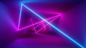 Cyberpunk Huawei Light Purple Tunnel 3840x2160 Wallpaper