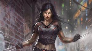 X 23 Women Laura Kinney Marvel Comics Claws T Shirt X Men Artwork Comic Art Marvel Girl Dark Hair 3840x2160 Wallpaper
