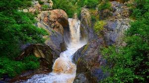 Nature Plants Outdoors Water Creeks Waterfall Rock Stones 2000x1257 Wallpaper