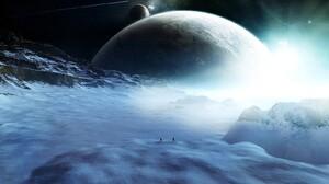 Landscape Mountain Planet Snow Space 1600x1200 wallpaper