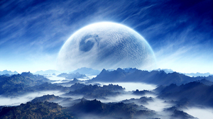 Sci Fi Planet Rise 2560x1600 wallpaper