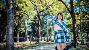 Woman Model Girl Depth Of Field Brunette Boots 3840x2560 Wallpaper
